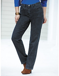 Short Stretch Denim Slim-leg Jeans by Ulla Popken