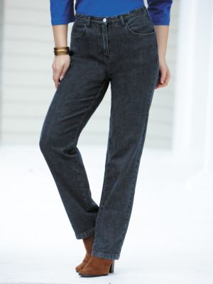 Short Stretch Denim Slim-leg Jeans