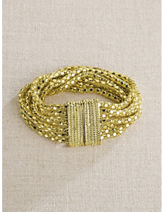 Golden Mesh Bracelet by Ulla Popken
