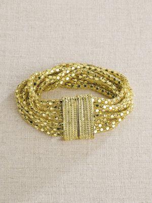 Golden Mesh Bracelet
