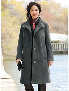 Three-quarter Swing Coat by Ulla Popken
