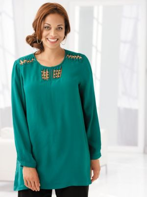 Gold Bead Accented Tunic