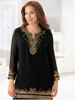 Gold Rush Embellished Tunic