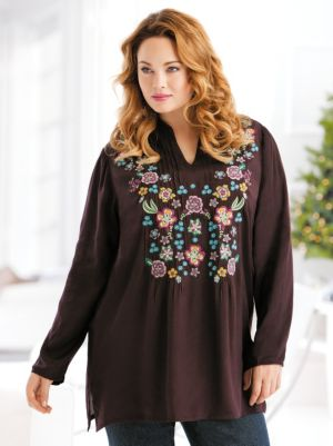Floral Wreath Embroidered Tunic