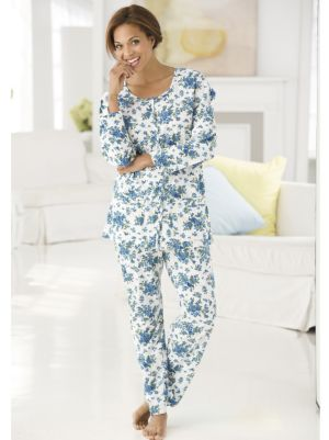 Blue Garden Knit Pajamas