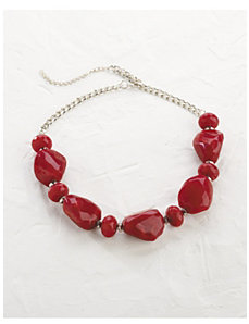 Chunky Red Necklace by Ulla Popken