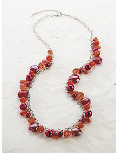 Red Treasures Long Necklace by Ulla Popken