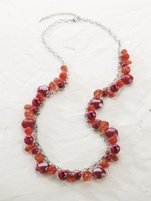 Red Treasures Long Necklace