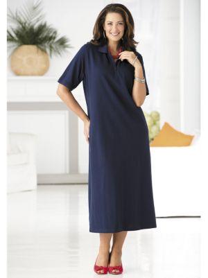 Pique Knit Polo Dress