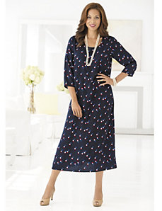Dots on Dots Dress by Ulla Popken
