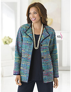 Rainbow Hues Tweed Jacket by Ulla Popken