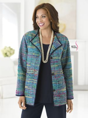Rainbow Hues Tweed Jacket