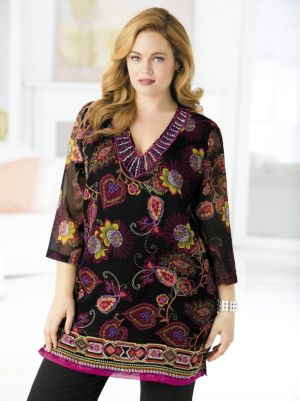 Empress's Garden Beaded Tunic