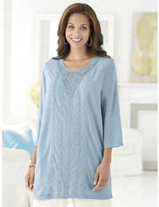 Crocheted Ribbons Tunic by Ulla Popken