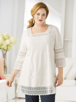 Lace-framed Boho Tunic