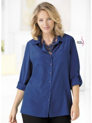 Button-front Wonder-fit Blouse