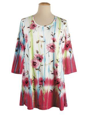 Floral Tie Dye Knit Tunic