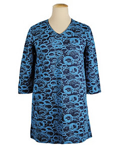 Abstract Circles Knit Tunic by Ulla Popken