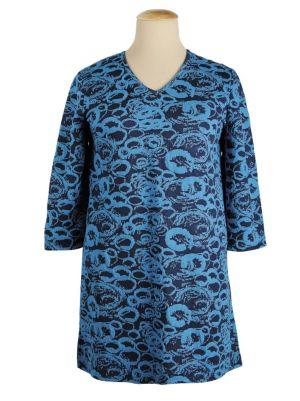 Abstract Circles Knit Tunic
