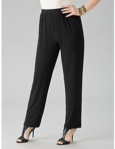 Matte Jersey Straight-leg Shorter-length Pants by Ulla Popken