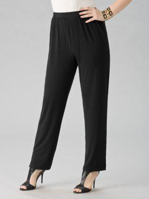 Matte Jersey Straight-leg Shorter-length Pants