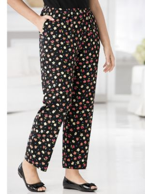 Happy Garden Print Knit Pants