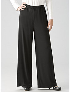 Matte Jersey Wide-leg Shorter-length Pants by Ulla Popken