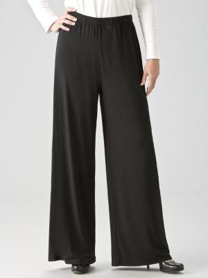 Matte Jersey Wide-leg Shorter-length Pants