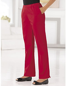 Stretch Twill Relaxed Shorter-length Pants by Ulla Popken