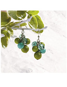 Verde Cluster Earrings by Ulla Popken