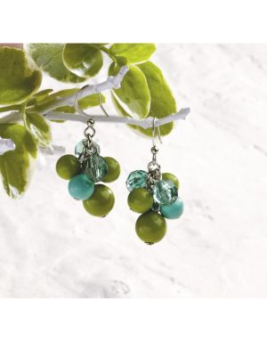 Verde Cluster Earrings
