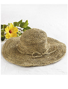 Wide-brim Straw Hat by Ulla Popken