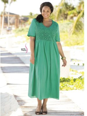 Medallion Crochet Empire Dress