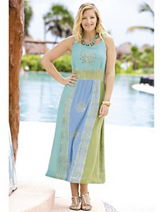 Batik Beauty Sundress by Ulla Popken