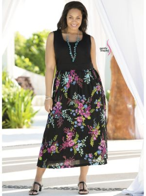 Blooming Bouquets Empire Dress
