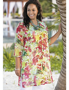 Floral Splash Duster Set by Ulla Popken