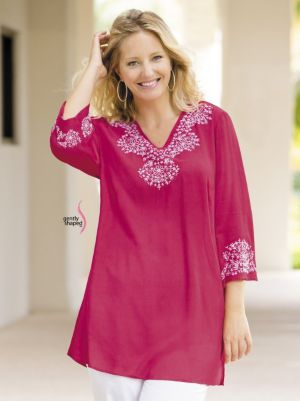 Embroidered Gently Shaped Tunic
