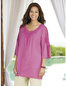 Radiating Crochet Detailed Tunic by Ulla Popken