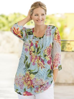 Island Floral Print Tunic