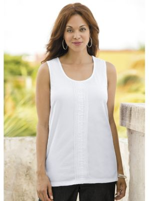 Pleat-front Knit Tank