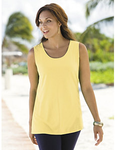 Cotton Knit Tank by Ulla Popken
