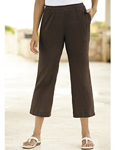 Cropped Gauze Pants by Ulla Popken