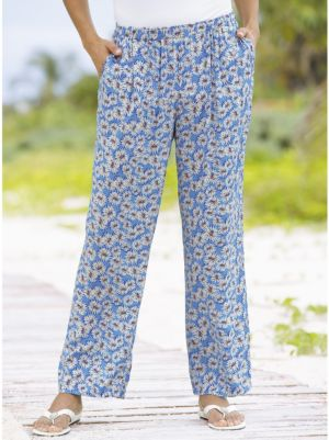 Crazy Daisy Print Pants