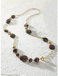 Dark Chocolate Necklace by Ulla Popken