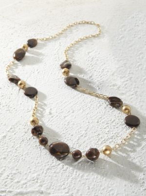 Dark Chocolate Necklace