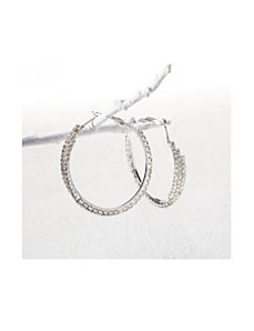 Rhinestone Hoop Earrings by Ulla Popken