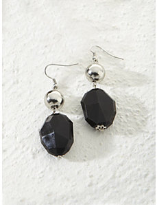 Licorice Drop Earrings by Ulla Popken