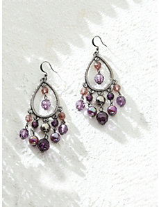 Purple Fantasy Chandelier Earrings by Ulla Popken