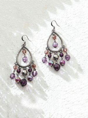 Purple Fantasy Chandelier Earrings