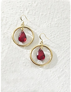 Lady in Red Earrings by Ulla Popken